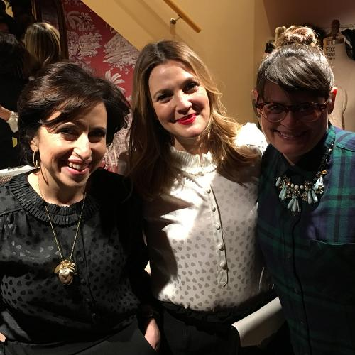 Whipped Bakeshop Founder Zoe Lukas with Drew Barrymore and Darcy Miller