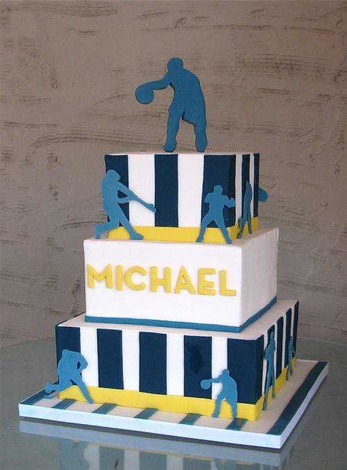 Sports Bar Mitzvah Cake by Whipped Bakeshop