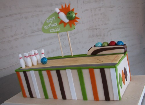 Bowling Alley Birthday Cake by Whipped Bakeshop
