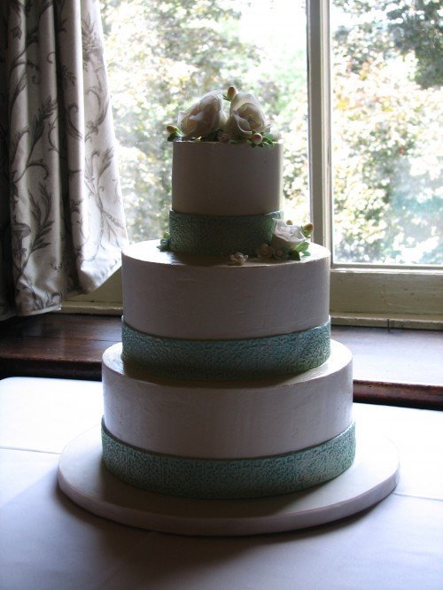 Three-Tier Buttercream Wedding Cake by Whipped Bakeshop
