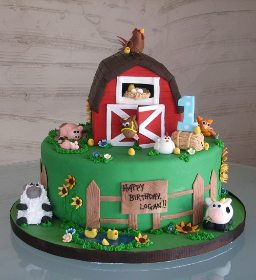 Farm Animal Cake by Whipped Bakeshop