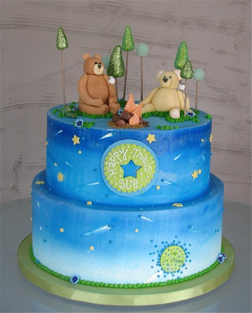 Camping Bears Cake by Whipped Bakeshop