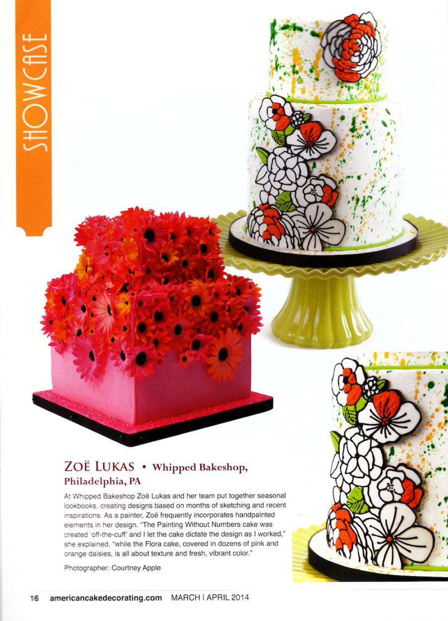 American Cake Decorating Magazine Features Whipped Bakeshop Cakes