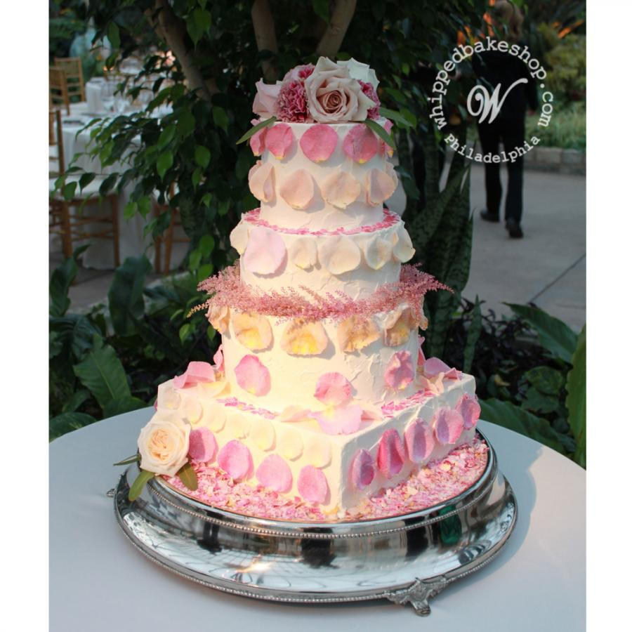 Candied Rose Wedding Cake by Whipped Bakeshop Philadelphia