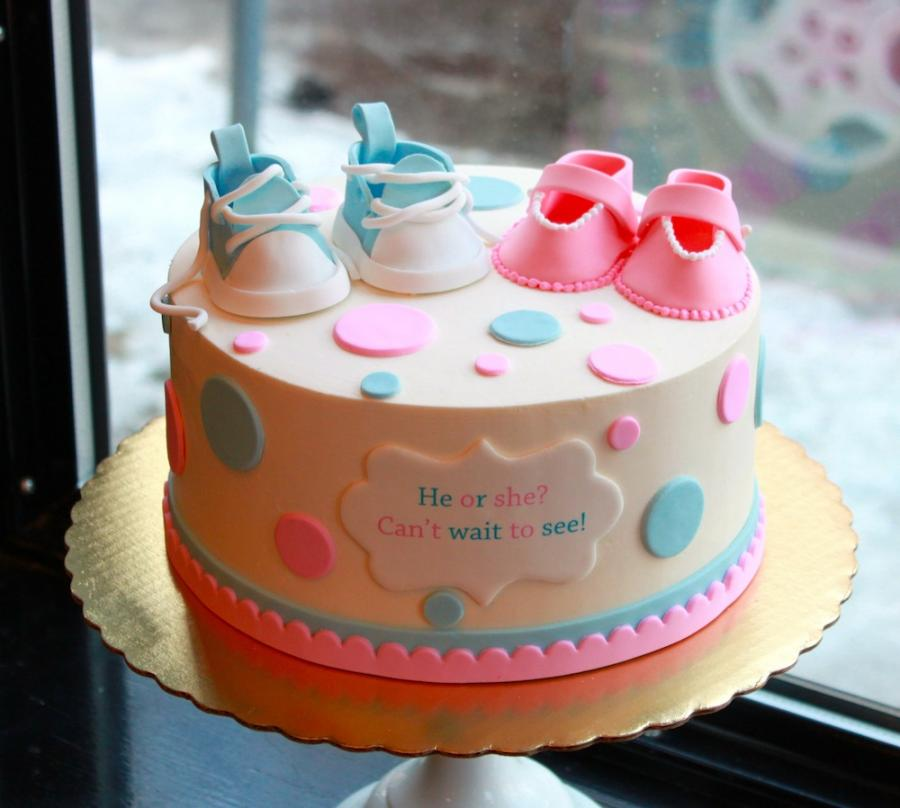 Gender Reveal Cake by Whipped Bakeshop