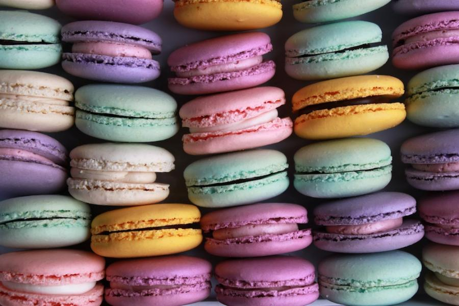 Colorful Macaron Favors by Whipped Bakeshop in Philadelphia