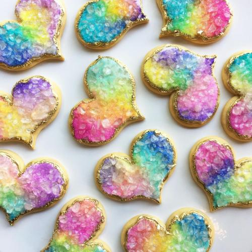 Rainbow Geode Cookies by Whipped Bakeshop