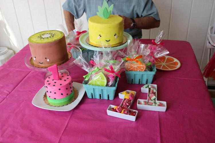 1st Birthday Cake Table by Whipped Bakeshop in Philadelphia