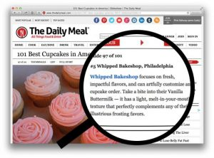 Press release from Daily Meal for Best Cupcake - Whipped Bakeshop