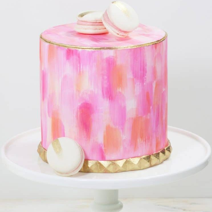 Cakes by Event Brushed pink wedding cake from Whipped Bakeshop