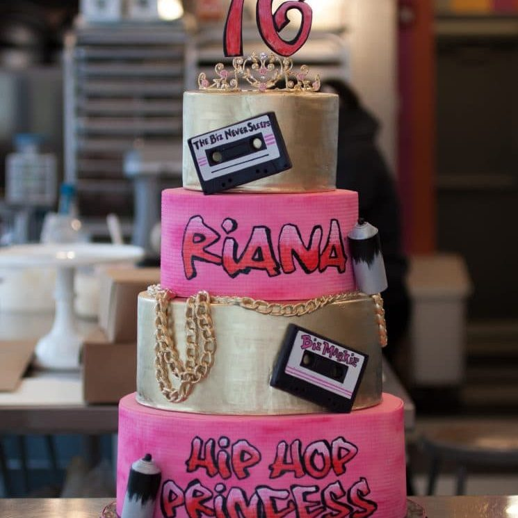 Hiphop Sweet 16 cake from Whipped Bakeshop