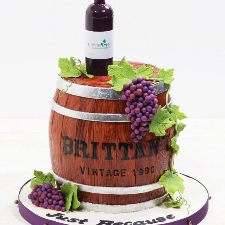 Cakes by Event Wine barrel cake Whipped Bakeshop